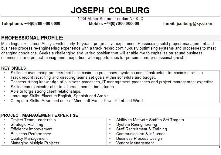 Interim Manager Cv Template Resume Skills Business