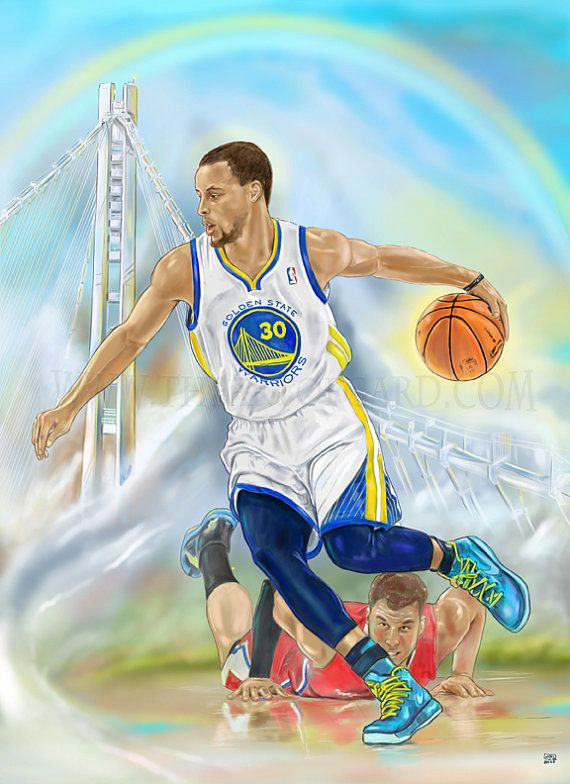 Stephen Curry A Warriors Run Digital Drawing by TheArtofGARD