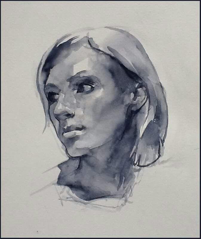 Super 293 best Portraits Watercolor images on Pinterest | Watercolor  LA26