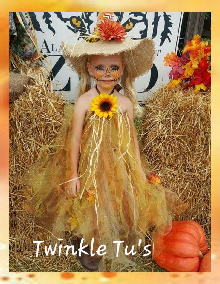 Scarecrow Fall Halloween Tutu Dress with Hat