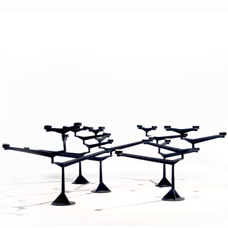 spin candelabra by tom dixon spin is sand cast in rough. Black Bedroom Furniture Sets. Home Design Ideas