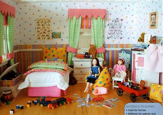 PDF Dolls House Miniature 12th Scale Modern Girls Bedroom Project for you to make! Lookx