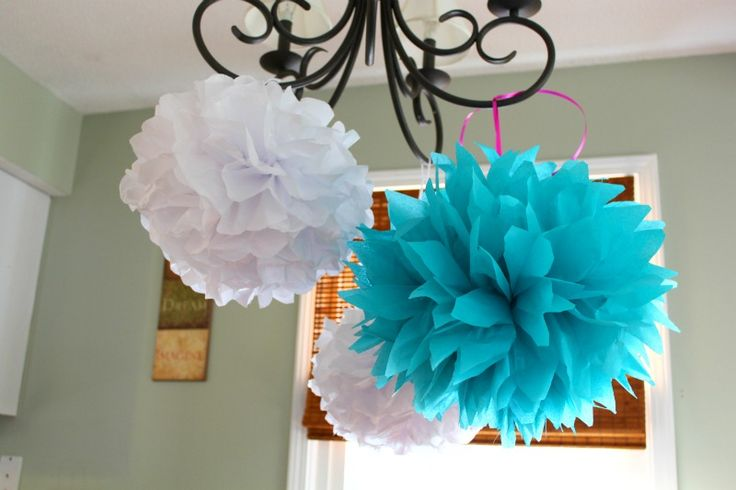 Fast, easy, cheap, ADORABLE decorations to add a little something to any event.    Personally, I think these could be combined with some white Christmas lights to add some nice atmosphere to a patio party.