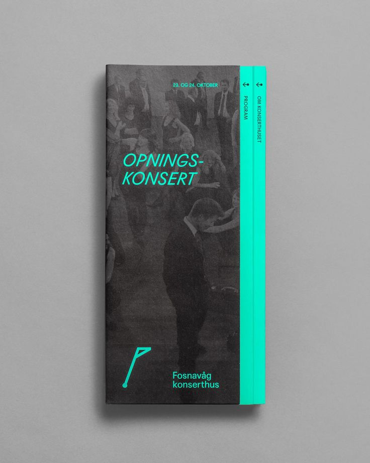 Visual identity and print for concert hall Fosnavaag Cultural Centre designed by Heydays