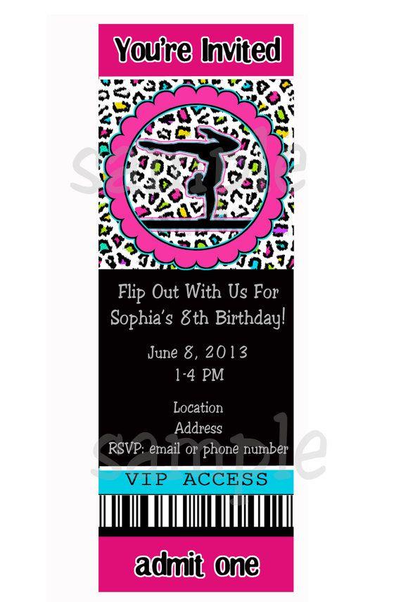 16 best Ashleyu0027s 8th Birthday images on Pinterest Gymnastics - best of invitation wording for gymnastics party