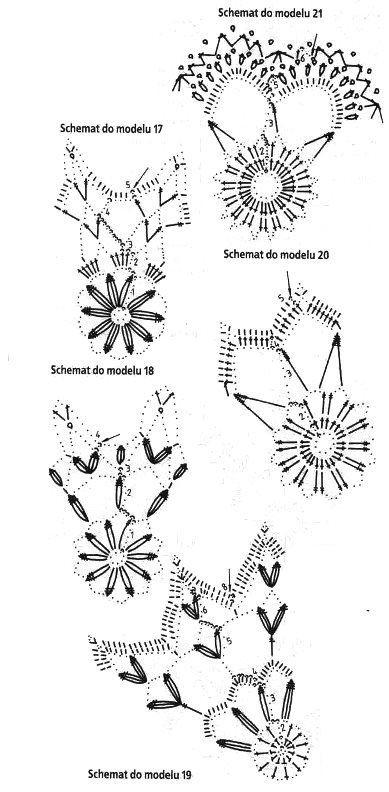 Five crochet snowflakes, page 2/2b