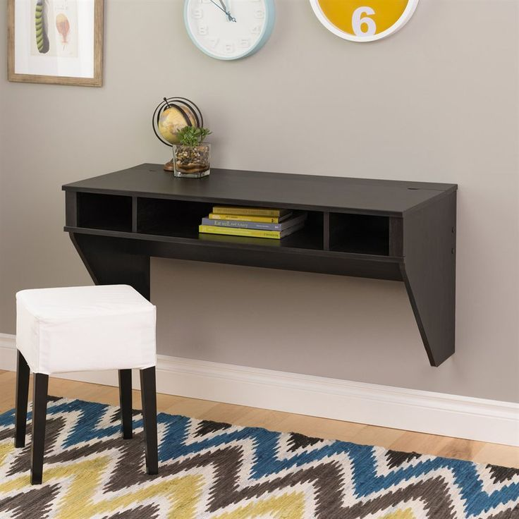 Shop Prepac Furniture Designer Washed Ebony Wall-Mounted Desk at Lowes.com
