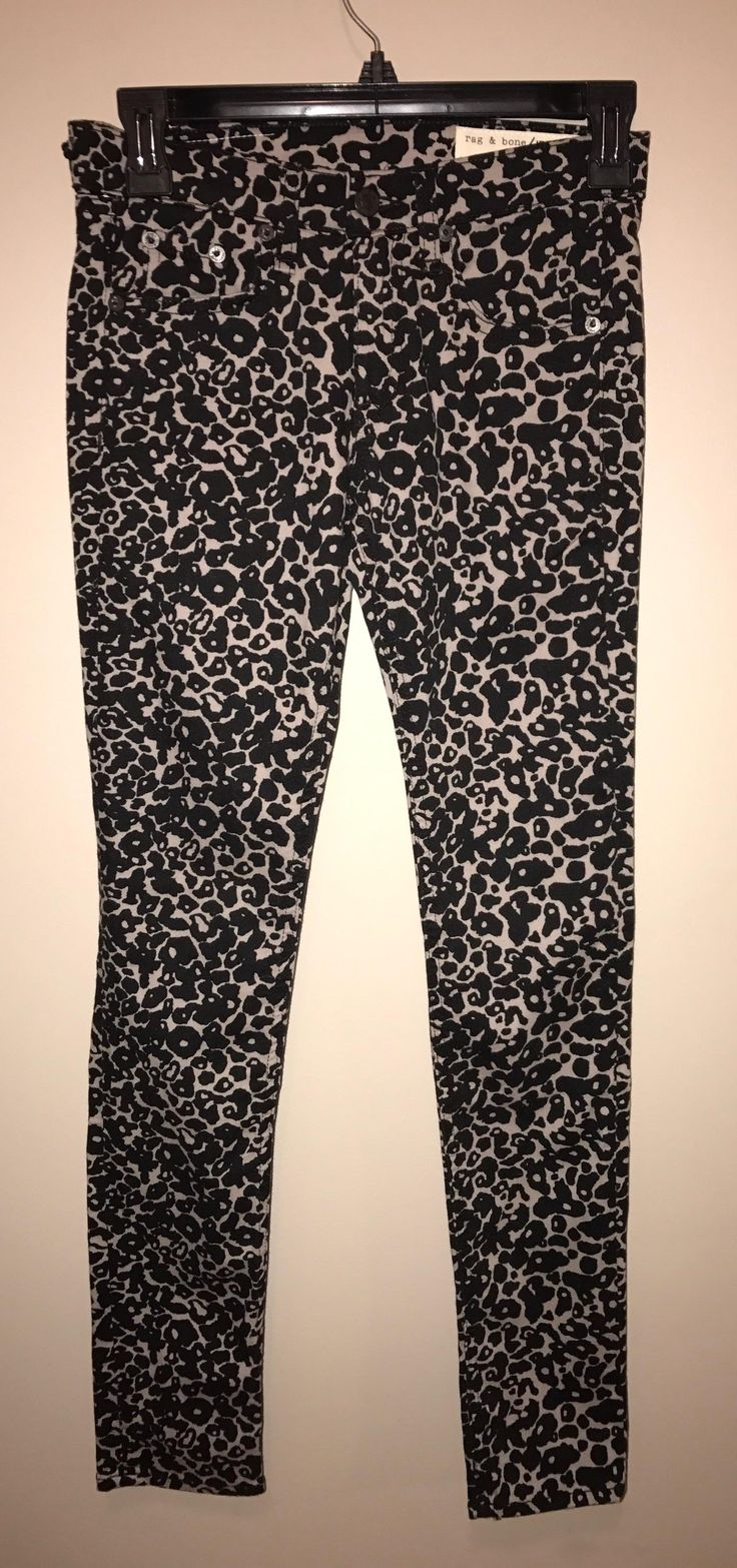 Rag & Bone $70 N * W * T Size 24 ** Free Shipping ** Amoeba Print Soft Stretch Skinny Jeans-. Free shipping and guaranteed authenticity on Rag & Bone $70 N * W * T Size 24 ** Free Shipping ** Amoeba Print Soft Stretch Skinny Jeans-The ultimate comfortable leopard print skinny jean...