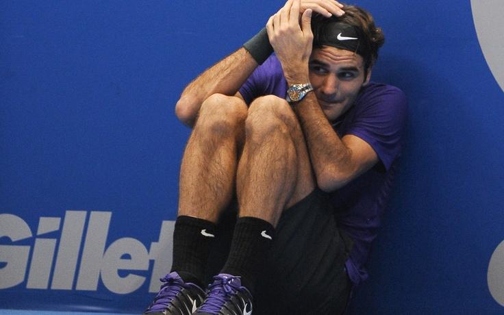 Roger Federer jugando como un niño - LUPA