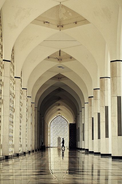 Arches of solitude, Shah Alam Mosque, Malaysia