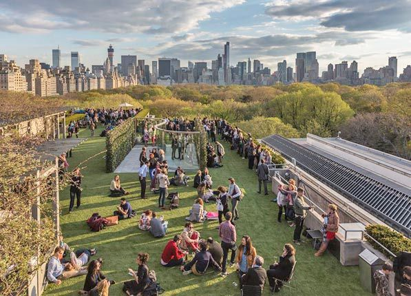 The Roof Garden At The Met - one of my favorite sanctuaries in Gotham | NYC's 10 Best Rooftop Bars via @PureWow