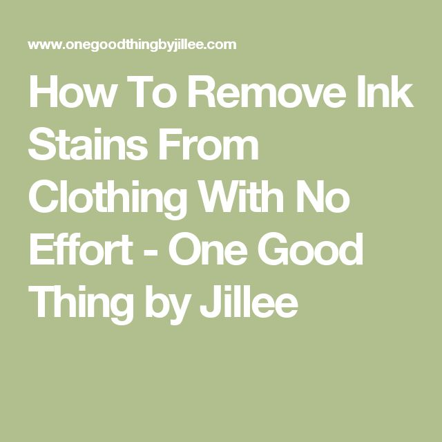 1000 Ideas About Remove Ink Stains On Pinterest Ink