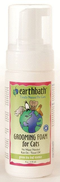 Earthbath All Natural Cat Grooming Foam Green Tea