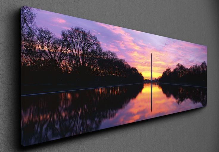 The Washington Monument at sunrise - Canvas