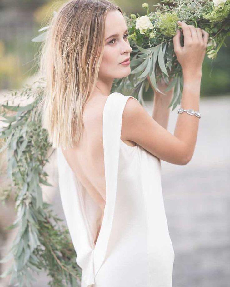 Wedding dress back detail - Modern Australian Wedding