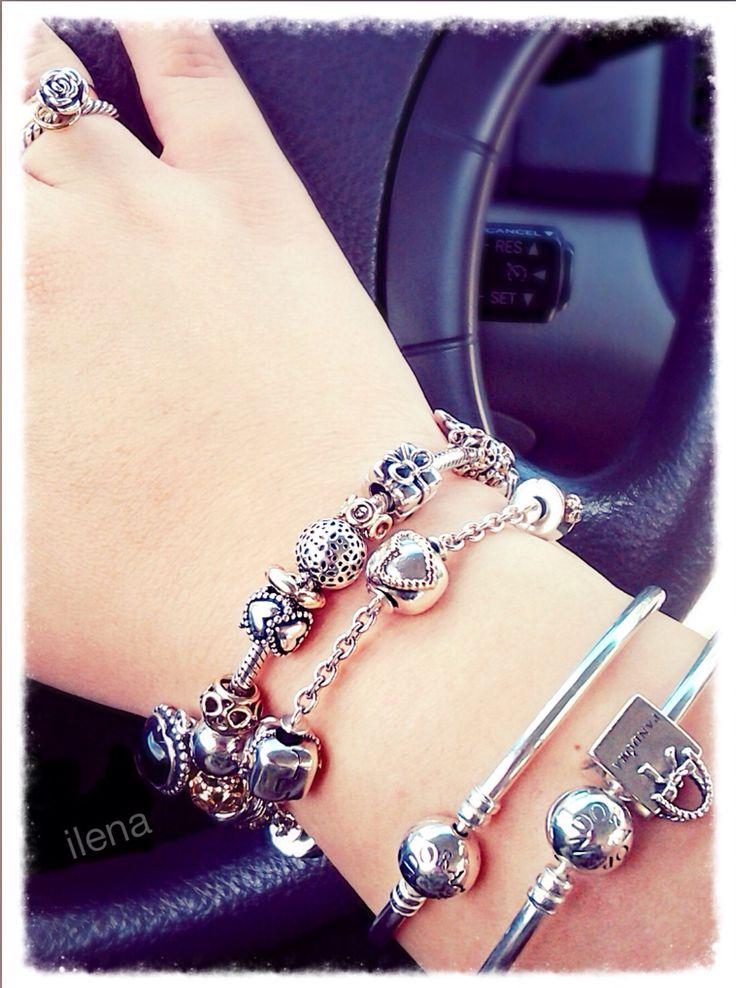 #MyPANDORA Pandora bracelets silver and gold charms. Ilena.