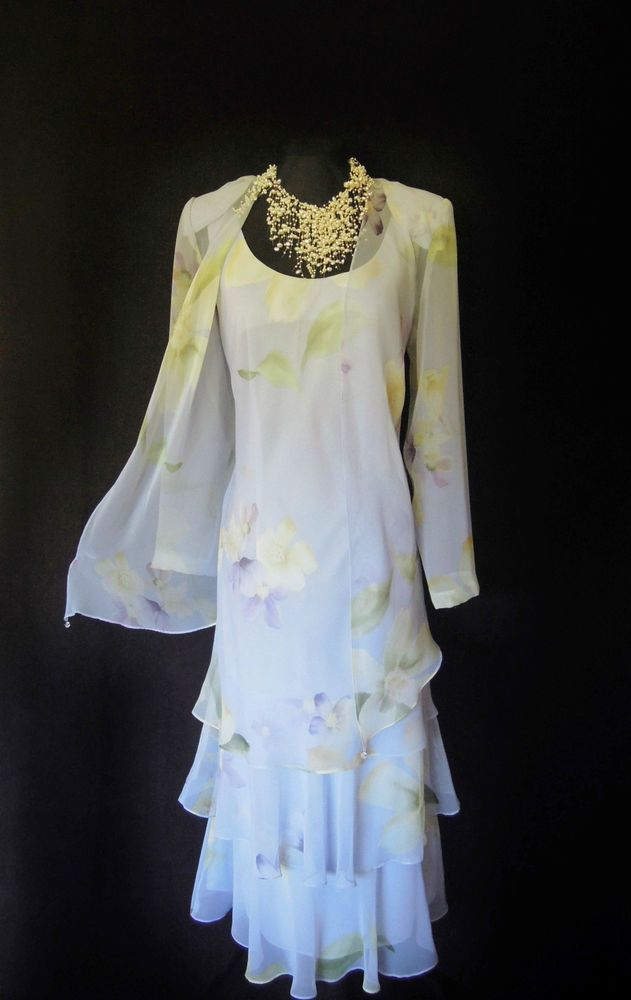 CATTIVA Lilac Wedding Outfit Size 12 Dress and Jacket Suit ...