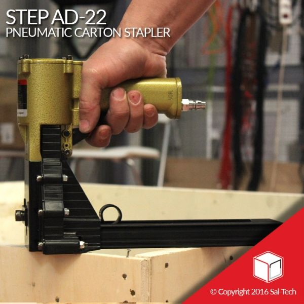 The STEP AD 22 Pneumatic Stapler is made for sealing boxes, with its hand-held and ergonomic design it cultivates less fatigue to its users. With a powerful force, an 18/22 staple height and a non-slip design, it can be used for a wide range of applications. A short trigger also adds up to its preciseness and usability making a reliable seal to most boxed products. #PneumaticStapler #CartonSealer #SalTechEasyPackaging  Inquire now: Call +45 7027 2220 Skype: easy.packaging Email…