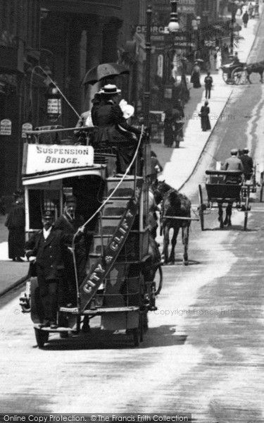 Bristol, Tram In Park Street 1900, from Francis Frith