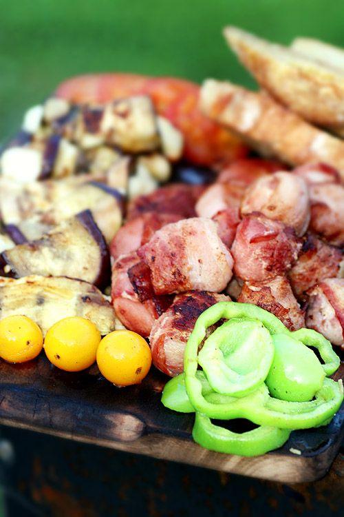 grillad plockmat –