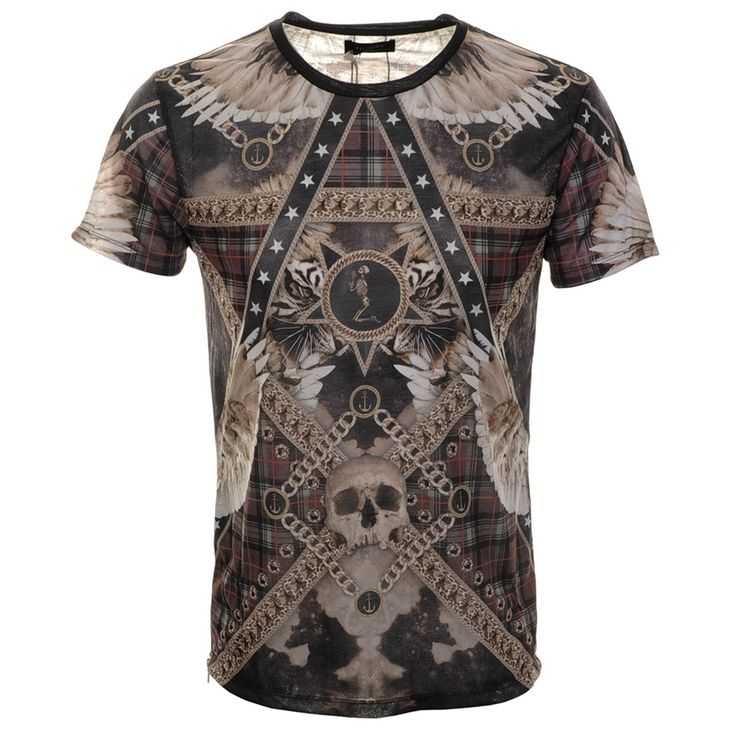 Religion > Religion Zipped Tartan T Shirt White > Religion T Shirts Polo Shirts Clothing Religion Mens Designer T Shirts Clothes @ Mainline Menswear Official Stockists Of Religion T Shirts G Star Hugo Boss Armani Diesel Fred Perry Franklin Marshall Blood Brother Lacoste Mens Designer Clothes Online