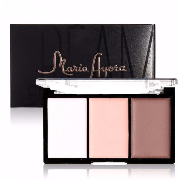 Highlight and Contour Trio Cream Palette Shop Elettra (€12) ❤ liked on Polyvore featuring beauty products, makeup, face makeup, highlight face makeup, palette makeup and highlight makeup