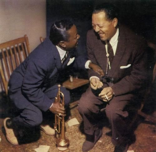 Lester young & Roy Elbridge, jazz masters - Always good to see Lester Young laughing... For he was probably suffering from depression.