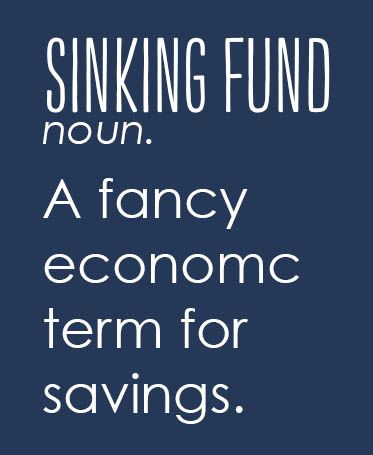 how to keep track of sinking funds
