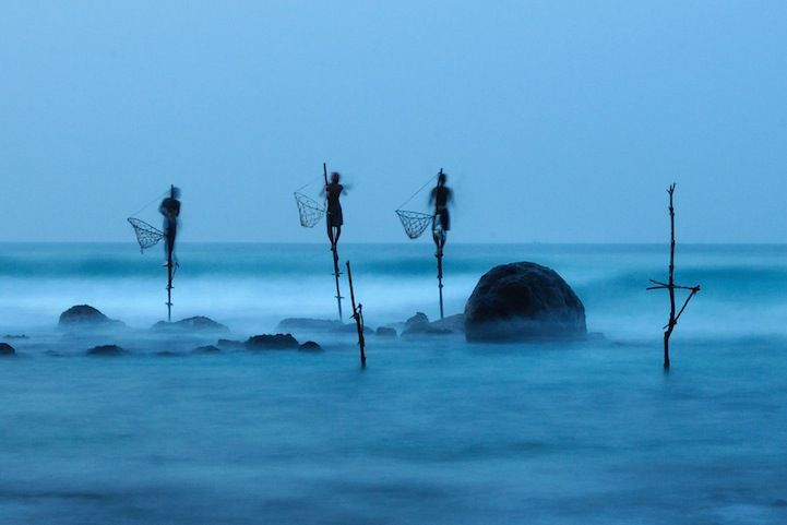 Honorable Mention: Stilt Fishing