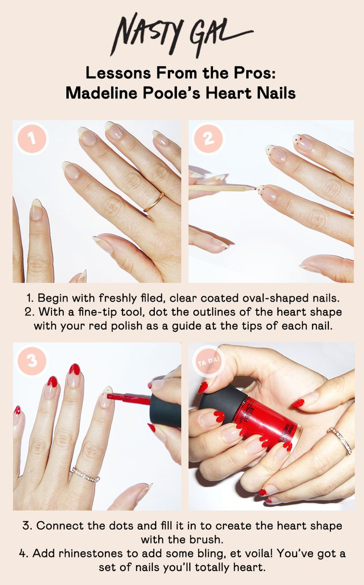 Lessons From The Pros: @MPNAILS Heart Nails