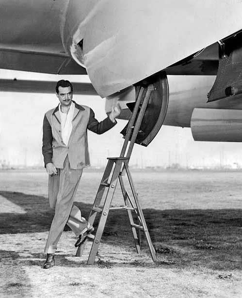 """Howard Hughes, Jr. (December 24, 1905 – April 5, 1976) was an American business magnate, investor, aviator, aerospace engineer, film maker and philanthropist. He set multiple world air speed records, built the Hughes H-1 Racer and H-4 """"Hercules,"""" and acquired and expanded Trans World Airlines. Toward the end of his life, he displayed signs of mental illness perhaps due to obsessive compulsive disorder and chronic pain from his extensive injuries."""
