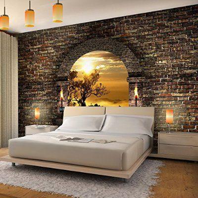 "Bedroom - wallpaper ""tropical sunset"""