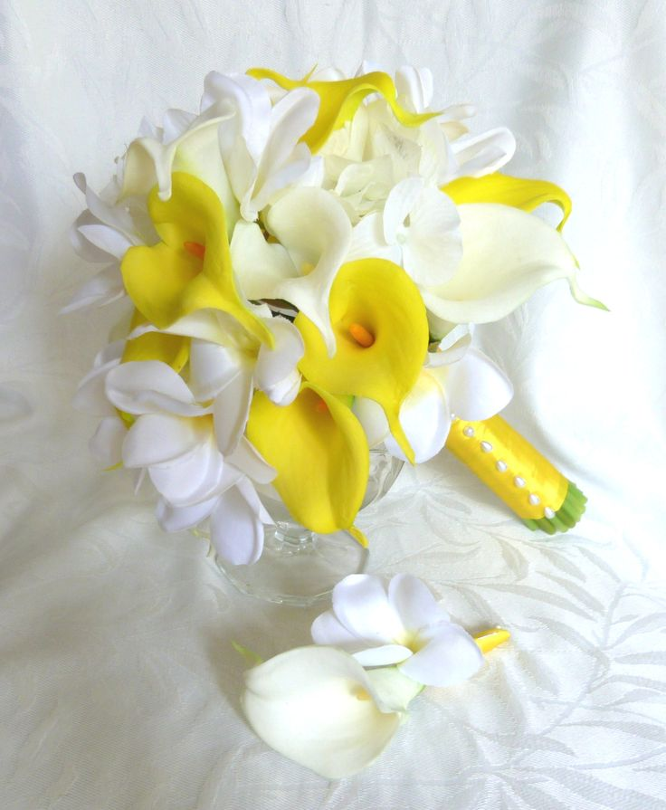 Plumeria bouquet and matching boutonniere plumeria real touch