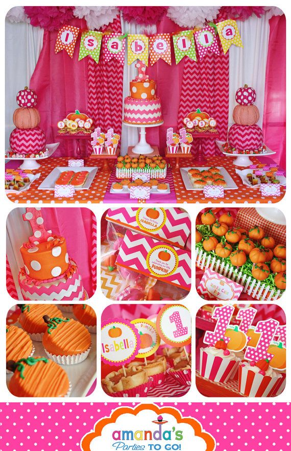 Pumpkin Patch Party Printable - Fall Birthday - Pink Pumpkin Birthday - Thanksgiving -  Huge Party Set by Amanda's Parties TO GO on Etsy, $29.50
