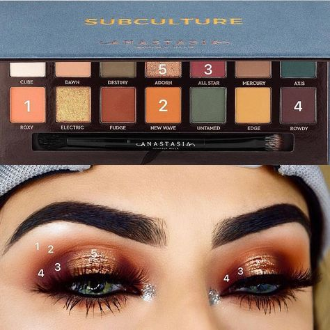 """1,400 Likes, 43 Comments - Rija (@rija_imran) on Instagram: """"Pictorial of my recent look! ✨ @anastasiabeverlyhills Subculture Palette #subculturepalette…"""""""