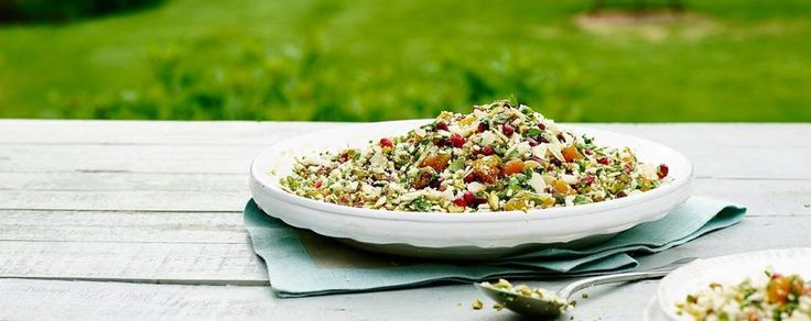 A healthy alternative to rice, this caullflower couscous recipe from chef James Martin features a flavoursome maple syrup dressing