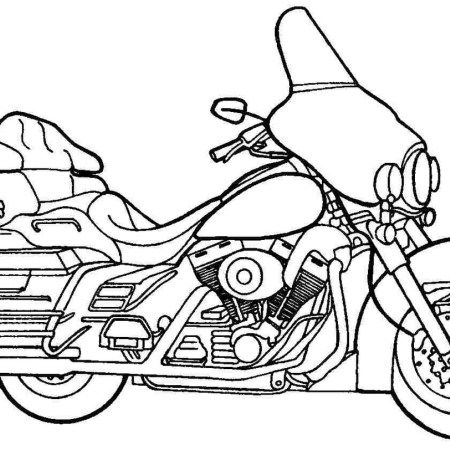 Police Motorcycle | Coloring pages, Coloring pages to ...