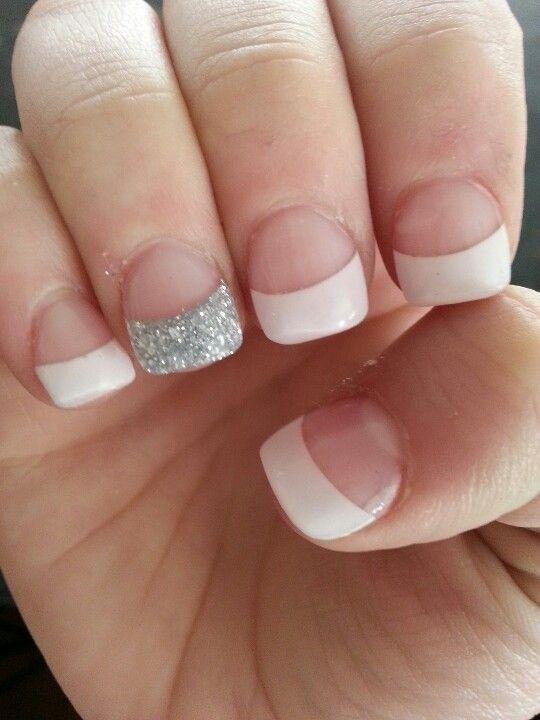 Acrylic nails glitter