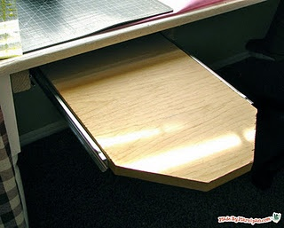 Make an under table ironing board for your sewing room! might actually get me to iron more.... yeah right