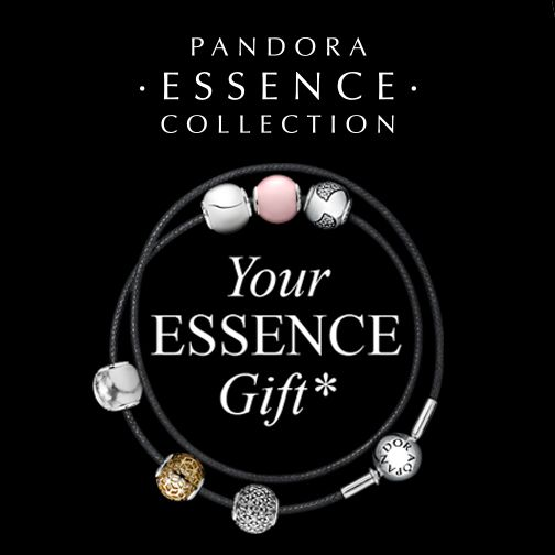 Pandora Essence Offer - Spend $125.00 on Essence Jewellery & receive an Essence double leather bracelet. Conditions apply.
