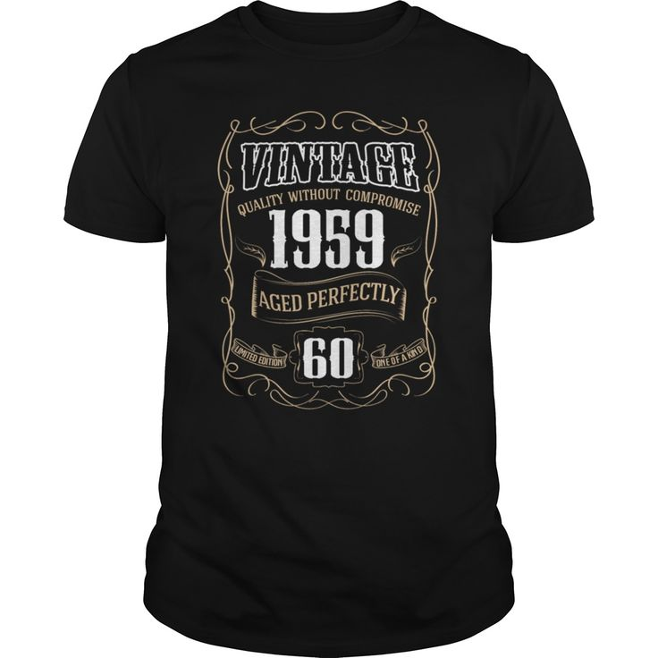 Born in 1959 Vintage 1959 life Begins at 60 T-Shirt in ...