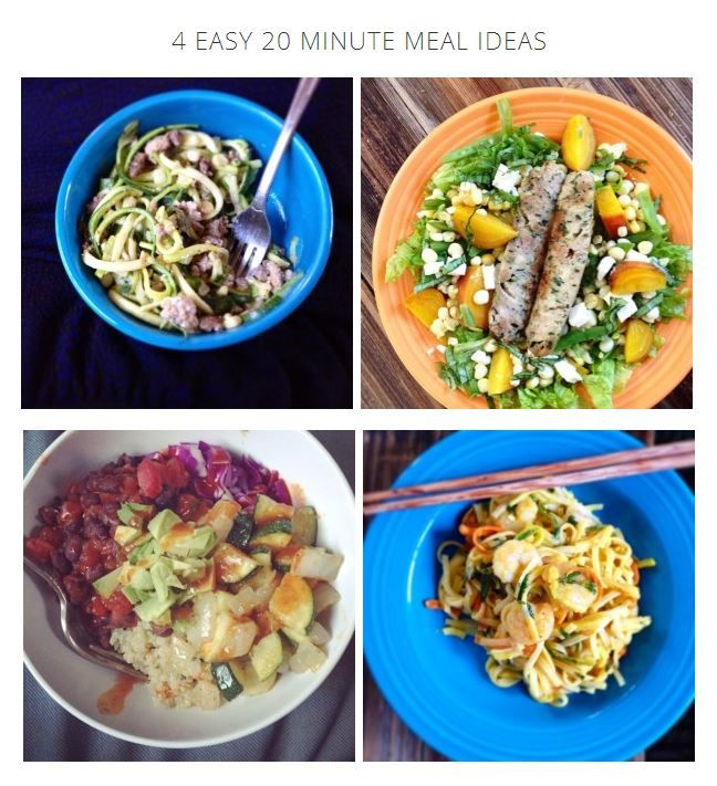 4 Easy 20 Minute Meal Ideas // Uproot from Oregon