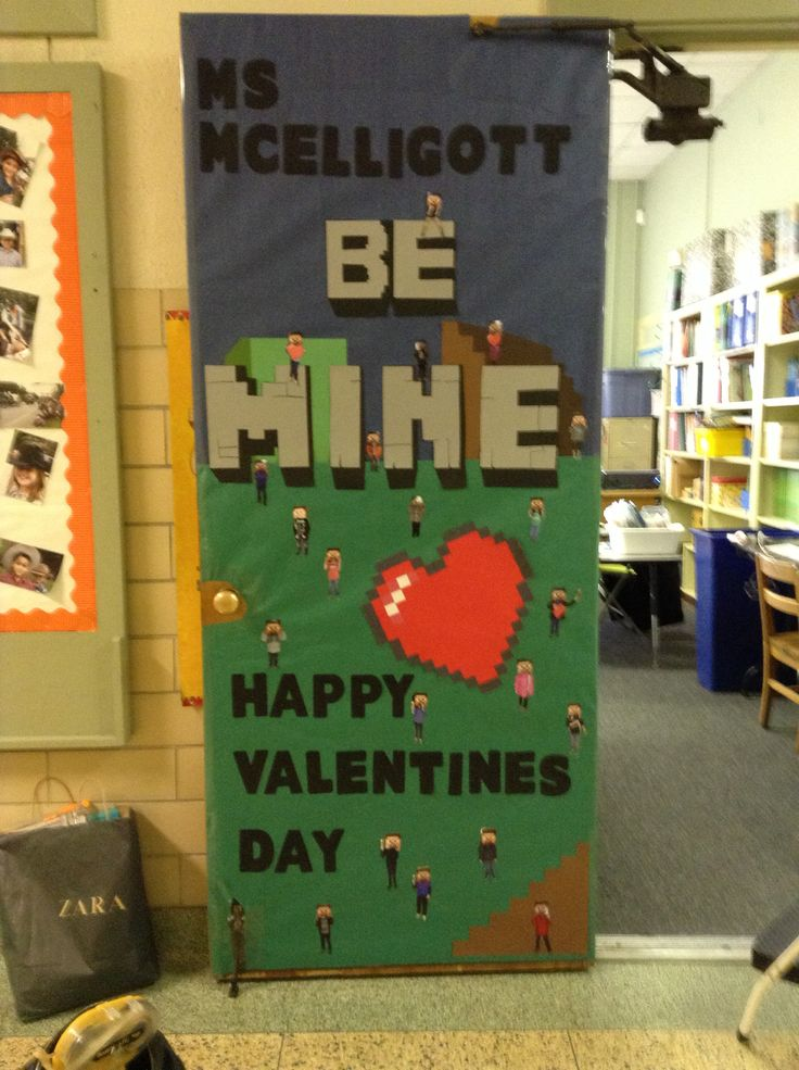 Classroom Door Decoration Ideas For Valentines ~ Best minecraft ideas for classroom images on pinterest