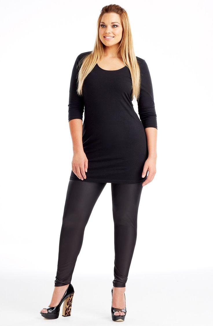 Scoop Neck Layering Dress | Style No: D2138-02  Cotton elastane scoop neck layering dress. This is the perfect layering piece for a winter wardrobe. #Dream Diva #dreamdivafiles #fashion #plussize
