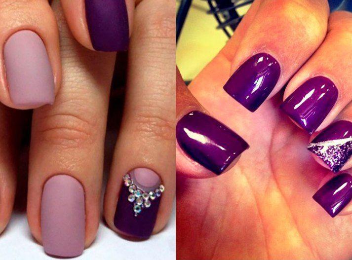Lilac nails design