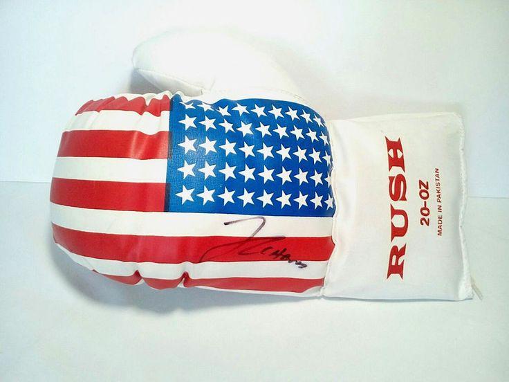 "Julio Cesar Chavez Sr Signed ""Rush Left Boxing Glove"""
