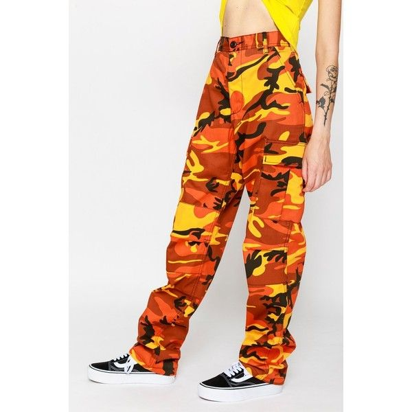 Savage Camo Cargo Pants ($75) ❤ liked on Polyvore featuring pants, camouflage pants, camo trousers, camoflauge pants, camo pants and camouflage trousers