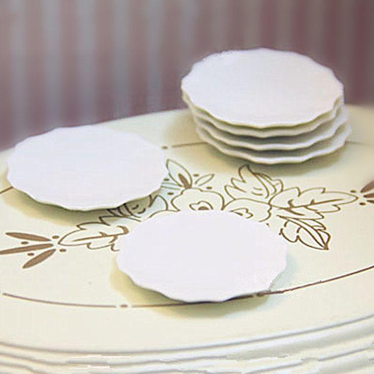 3,03 - 3pcs/lot 1:12 Dollhouse Miniature 3D Cute Plastic White Mini Plates Cake Dish Plates PVC Crafts DIY Dollhouse Kitchen Decoration