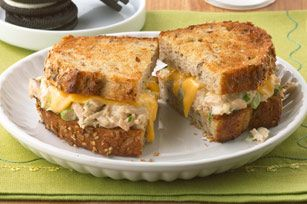 Grilled Tuna Melt-easy and delicious, a good twist on old fashioned grilled cheese