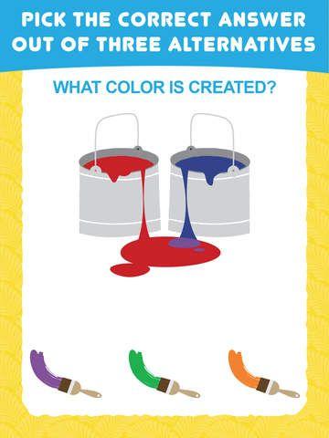Minä itse osaan värit -pelissä lapsi pääsee harjoittelemaan värien tuntemustaan!